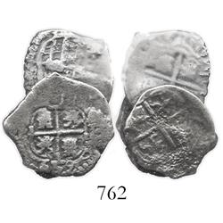 Clump of 3 Potosi, Bolivia, cob 1R.