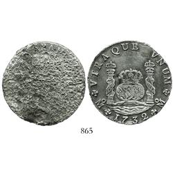 Mexico City, Mexico, pillar 8 reales, Philip V, 1732F, very rare first date.