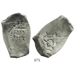 Mexico City, Mexico, cob 8 reales, (17)20J, rare.