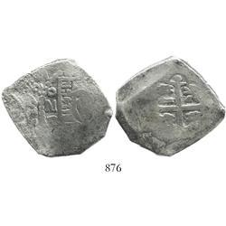 Mexico City, Mexico, cob 8 reales, 1727D, rare.