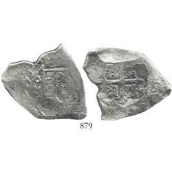Mexico City, Mexico, cob 8 reales,1729R.