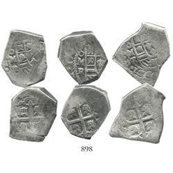 Lot of 3 Mexico City, Mexico, cob 4 reales, (1729-30)R.