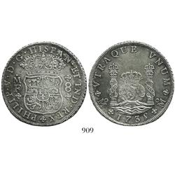 Mexico City, Mexico, pillar 8 reales, Philip V, 1735MF.