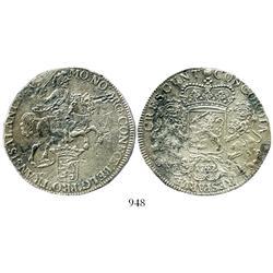 "Overijssel, United Netherlands, ""rider"" ducatoon, 1742."