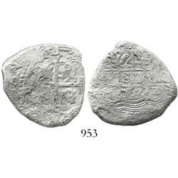 Lima, Peru, cob 4 reales, 1707H, scarce.