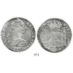 Mexico City, Mexico, bust 8 reales, Charles III, 1776FM.