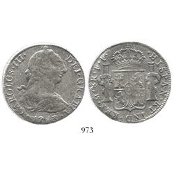 Mexico City, Mexico, bust 8 reales, Charles III, 1783FF, in promotional box.