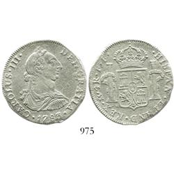 Mexico City, Mexico, bust 4 reales, Charles III, 1783FF, rare denomination from this wreck.