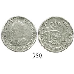 Mexico City, Mexico, bust 1 real, Charles III, 1783FF.