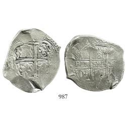 Potosi, Bolivia, cob 8 reales, 1674(?)E.