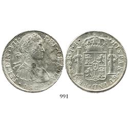 "Mexico City, Mexico, bust 8 reales, Ferdinand VII transitional (""armored bust""), 1809TH."