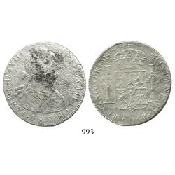 Guatemala, bust 8 reales, Charles IV, 1808M.