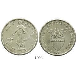 Philippines, 1 peso, 1908.