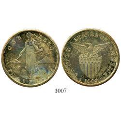 Philippines, 1 peso, 1909.