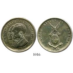 Philippines, peso, 1936, Murphy and Quezon.