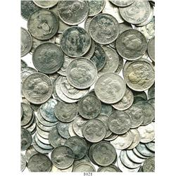 Massive lot of 140 Philippines silver coins of 1936, ready made for 5-coin sets, consisting of pesos
