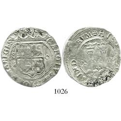 """Mexico City, Mexico, 4 reales, Charles-Joanna, """"Late Series,"""" oM to left, O to right, high grade."""