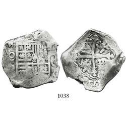 Mexico City, Mexico, cob 8 reales, (16)24/3D, scarce.