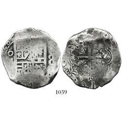 Mexico City, Mexico, cob 8 reales, (1)628(D), rare.