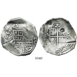 Mexico City, Mexico, cob 8 reales, 1631/0(D), with chopmarks and test-cuts, very rare.