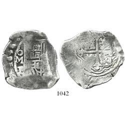 Mexico City, Mexico, cob 8 reales, 1636/5P, very rare.