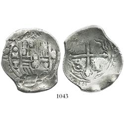 Mexico City, Mexico, cob 8 reales, 1643/2P, very rare.
