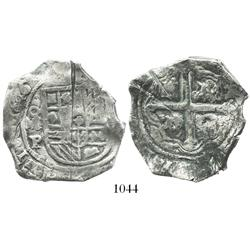 Mexico City, Mexico, cob 8 reales, 1646P, with chopmarks and test-cuts, rare.
