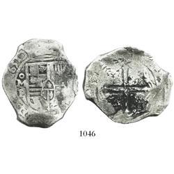 Mexico City, Mexico, cob 8 reales, 1651P.