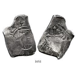 Mexico City, Mexico, cob 8 reales, (1)661(P), rare.