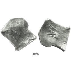 Mexico City, Mexico, cob 8 reales, (1)679/8L, very rare overdate.
