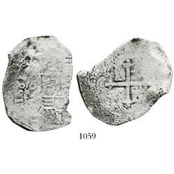 Mexico City, Mexico, cob 8 reales, 1681L.