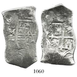 Mexico City, Mexico, cob 8 reales, (16)86L, rare.