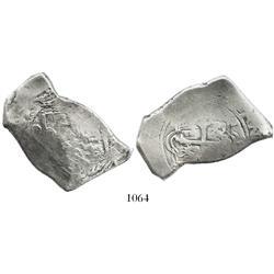 Mexico City, Mexico, cob 8 reales, (16)97(L), extremely rare.
