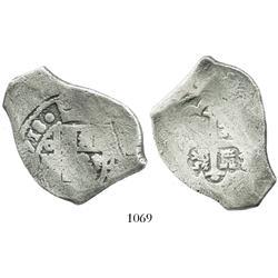 Mexico City, Mexico, cob 8 reales, (1)718J, rare.