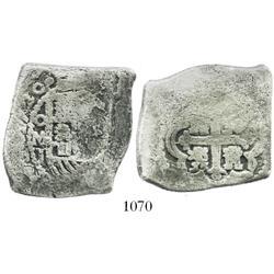 Mexico City, Mexico, cob 8 reales, 1720J.