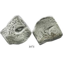 Mexico City, Mexico, cob 8 reales, 1721J, rare.