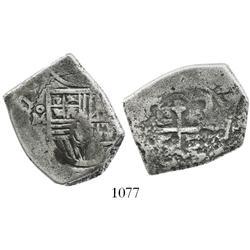 Mexico City, Mexico, cob 4 reales, (1)67(8?)L/G, rare.