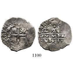 Lima, Peru, cob 2 reales, 1693V.