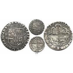 Potosi, Bolivia, cob 8 reales Royal, 1637TR, very rare.