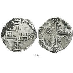 Potosi, Bolivia, cob 8 reales, 1644T.