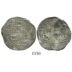 Potosi, Bolivia, cob 4 reales, Philip III, assayer R.