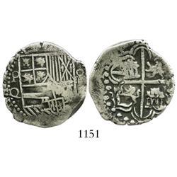 Potosi, Bolivia, cob 4 reales, Philip III, assayer Q.