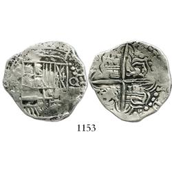 Potosi, Bolivia, cob 4 reales, Philip III, assayer M.
