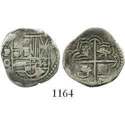 Potosi, Bolivia, cob 1 real, Philip III, assayer Q.