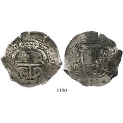 Potosi, Bolivia, cob 8 reales, 1687VR.