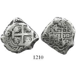 Potosi, Bolivia, cob 4 reales, 1745q.