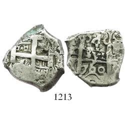 Potosi, Bolivia, cob 4 reales, 1760q.