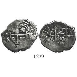 Potosi, Bolivia, cob 2 reales, 1715Y.