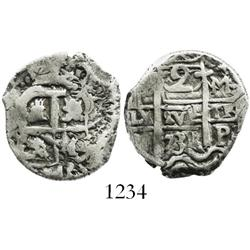 Potosi, Bolivia, cob 2 reales, 1731M.