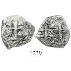 Potosi, Bolivia, cob 2 reales, 1754q.